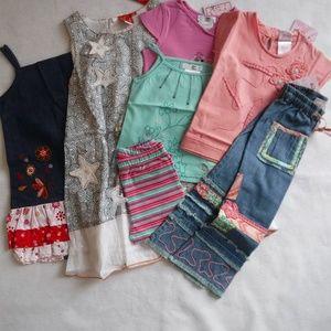 Bundled NWT 3 Girls Spring Dresses Deux par Deux